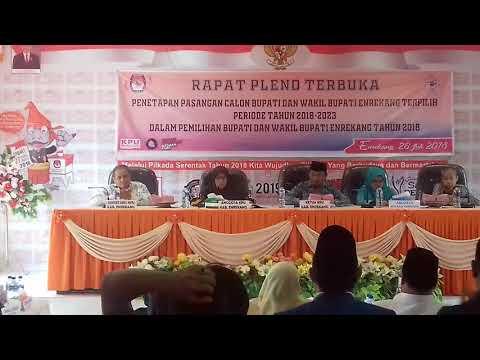 KPU Enrekang Tetapkan MB-Asman Sebagai Pemenang Pilkada Enrekang 2018