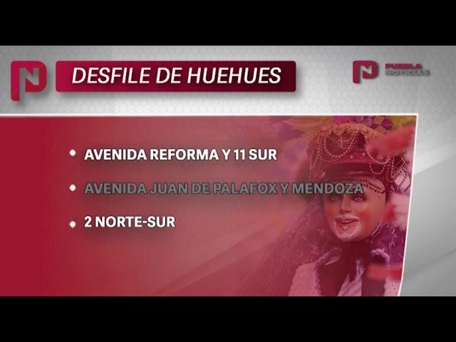 #SET #PueblaNoticias Se desarrolla Desfile de Huehues en Puebla