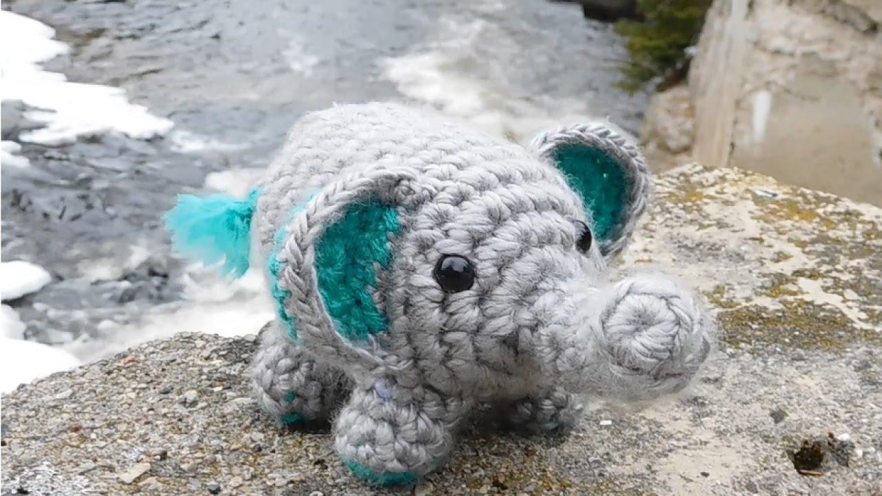 Crochet Elephant Amigurumi Easy Video Instructions   720x1280