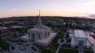 Ogden, Utah Mormon Temple As Seen From a UFO