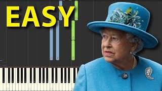 God Save the Queen EASY NORMAL speed Piano Tutorial for beginners Synthesia