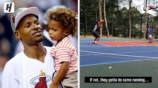Ray Allen Teaches His Children How To Be Clutch In Tough Situations!
