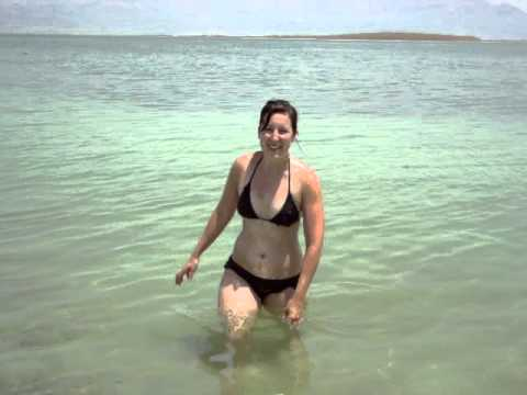 Look how easy it is to swim at the Dead Sea