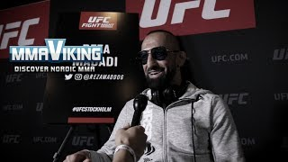 UFC Sweden 5 Media Day Reza Madadi