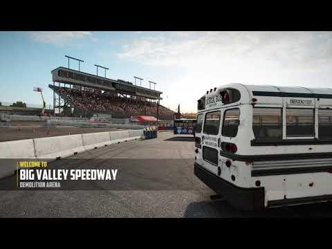 Wreckfest Big Valley Speedway School Bus Demolition Derby