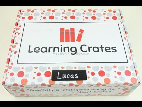 Learning Crates October 2018 Unboxing + Coupon #learningcrates