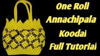 One Roll Pineapple Design Basket |Annachipala Koodai |Plastic Wire Koodai(Basket) Making|Tube Koodai