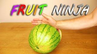 Watermelon Karate Chop - Fruit Ninja!