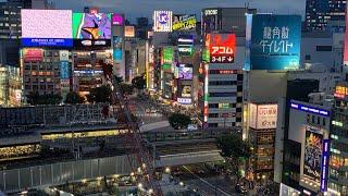 Shibuya Station and Tokyo Skyline View