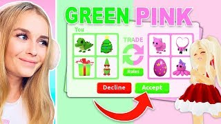 Trading ONE COLOR ONLY Challenge In Adopt Me! (Roblox)