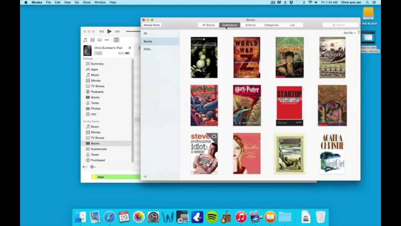 How to upload books to iPad