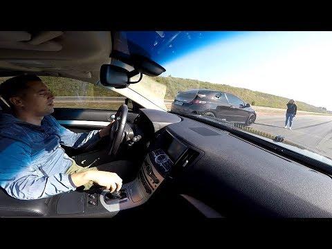 """Infiniti G37  vs  Civic TypeR  !!!  """"ТОПОР"""" снова удивил !!!"""