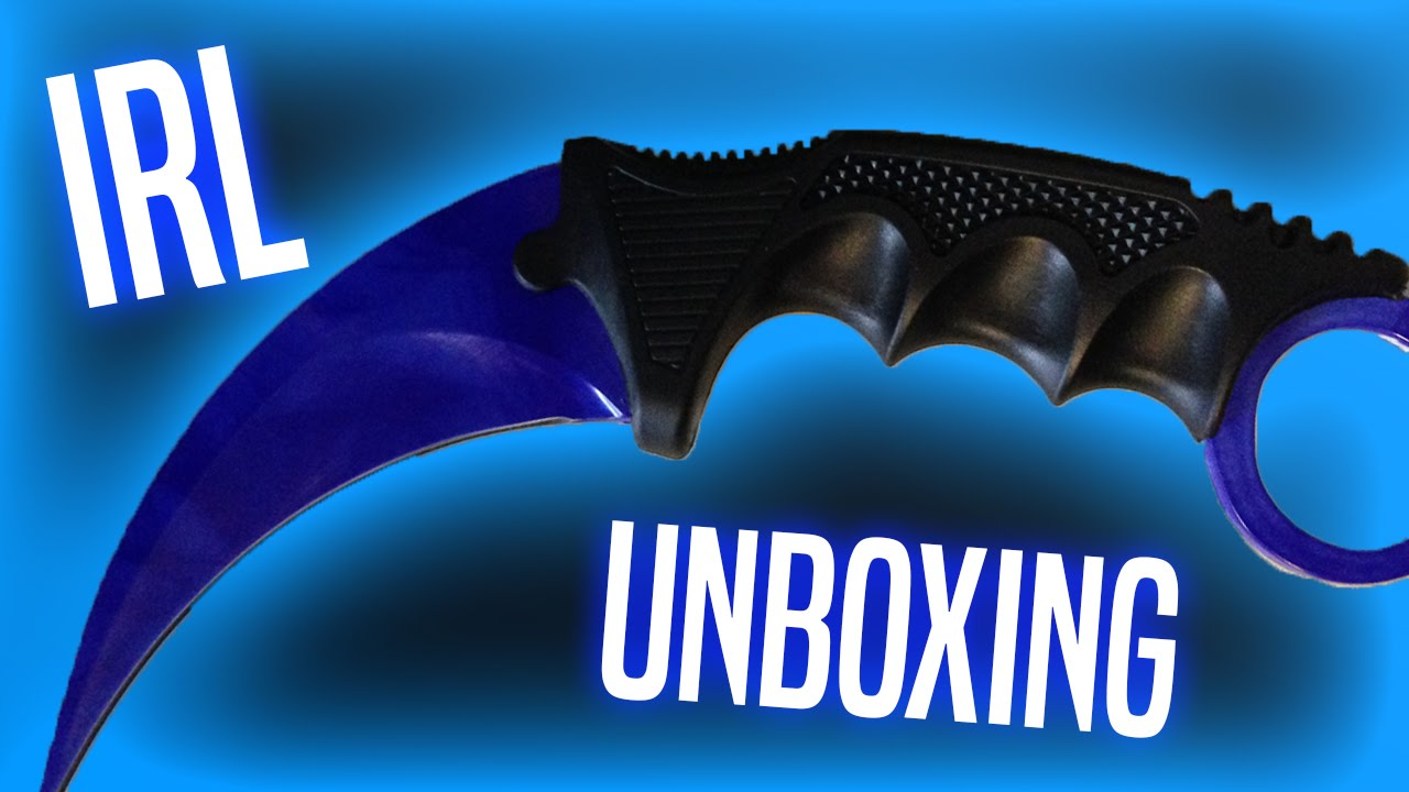 IRL Karambit Sapphire Doppler Unboxing - Elemental Knives (Older Version) - YouTube