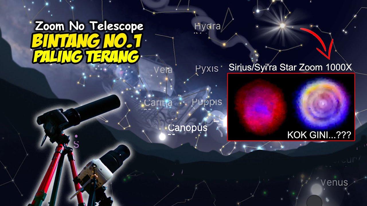 ZOOM 🌟 BINTANG SIRIUS / SYI'RA STAR MALAM LEBARAN (Nikon P1000 No Telescope)