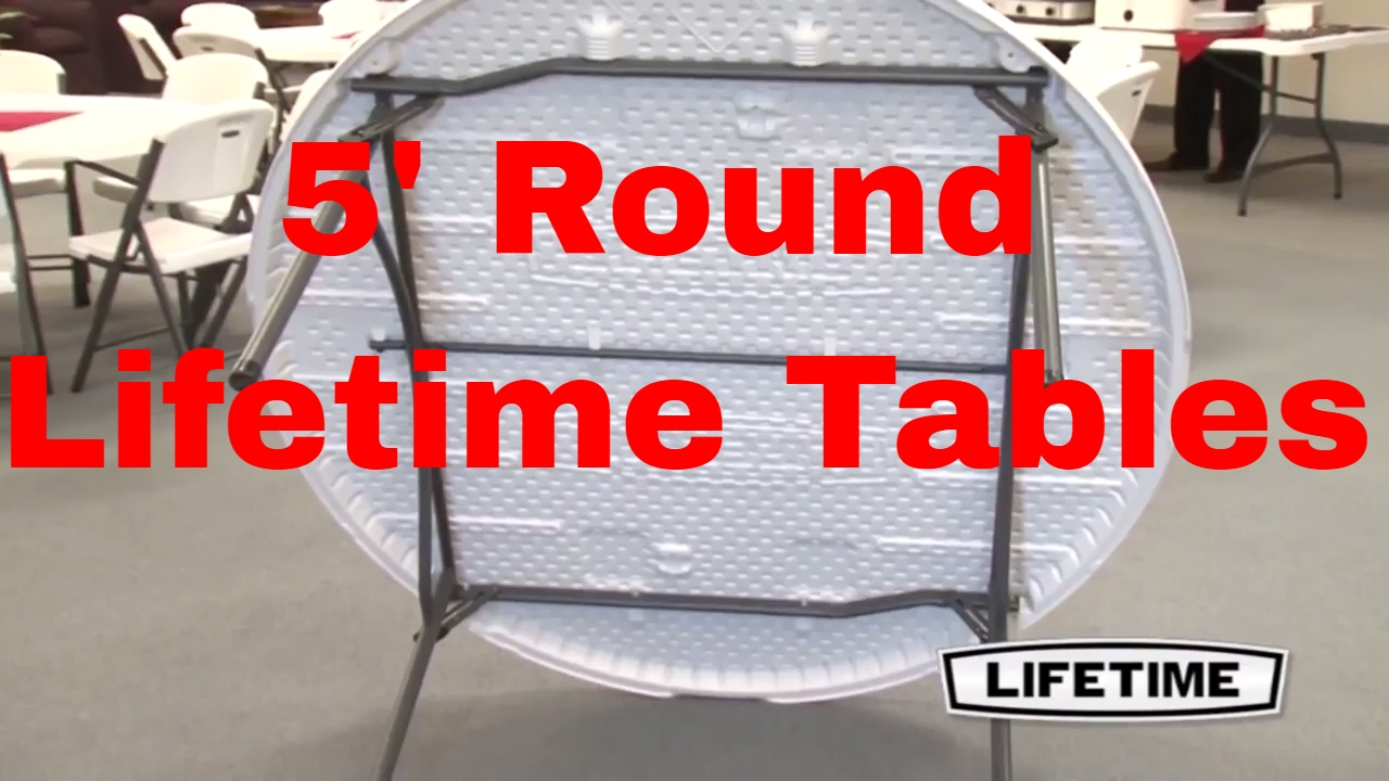 Lifetime 60 Round Newly Designed Table