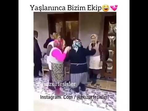 Yaşlı ninelerin dansı (komik vido)