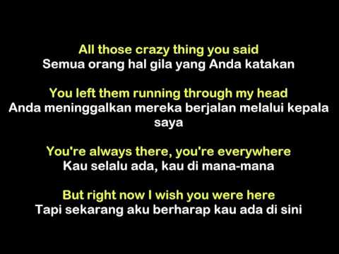 Avril Lavigne  Wish You Were Here Lyric Sub Indonesia
