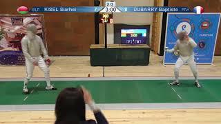 FE 2018 T08 03 M S Individual Yerevan ARM U23 European Championships GREEN KISEL BLR vs DUBARRY FRA thumbnail