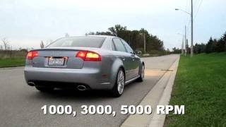 Audi RS4 (B7) 4.2 V8 Stock Exhaust Sound Compilation and 0-60 mph in 4.39 seconds