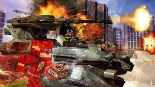 Minecraft Hello Neighbor - Batman & The Flash Destroy the City (minecraft Roleplay)