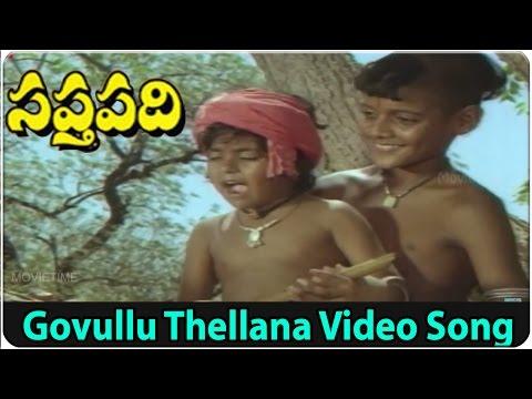 Govullu Thellana Video Song || Saptapadi Movie || J.V.Somarajulu, S.Janaki, K.Viswanath