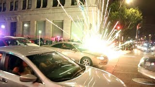 Video Firework EXPLODES In Cops Face On Hollywood Blvd... download MP3, 3GP, MP4, WEBM, AVI, FLV Agustus 2018