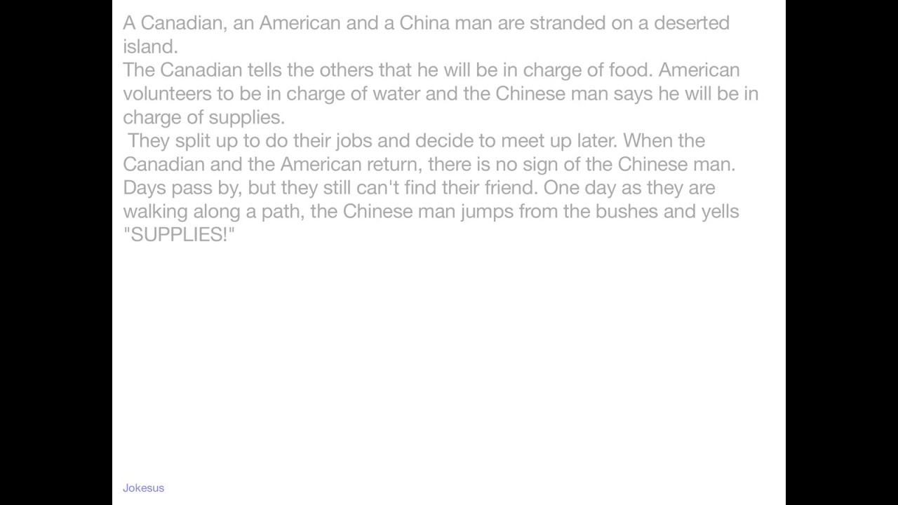 Black man white man chinese man jokes