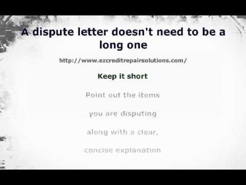 Tips on Writing a Dispute Letter to a Collection Agency