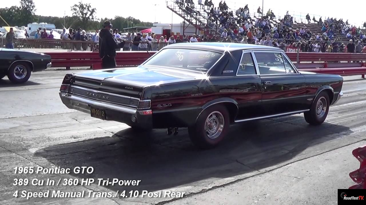 1968 Dodge Charger R T Vs 1965 Gto Tri Power 1 4 Mile Drag Race