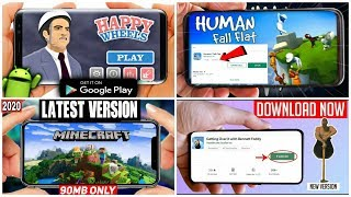Happy Wheels | Minecraft | Human Fall Flat | Getting Over It | Top 4 Trending Games In 2020