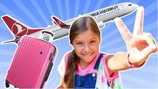 Перелет Турция Москва с лучшей подружкой Полен. Аэропорты и самолеты видео для детей.