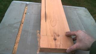 How To Scribe Cut Free Hand On A Table Saw