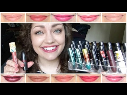 M.A.C. Lipstick Collection (LIVE SWATCHES!!!)