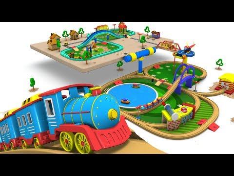 Train - Cartoon - Toy Factory - Choo Choo Train - Videos for Children - Toy Train Videos - Trains