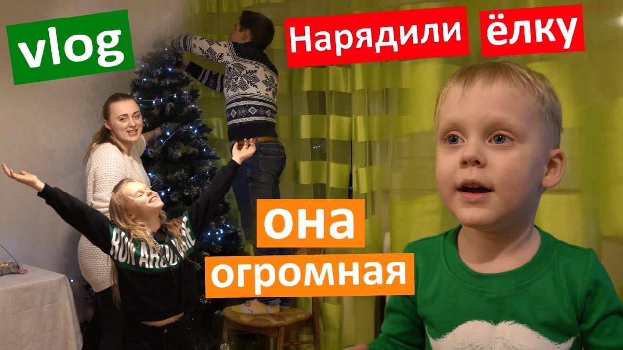 Vlog Наряжаем Елку вместе!!! Какая она большая! Моя мечта сбылась.  Где новогоднее настроение?