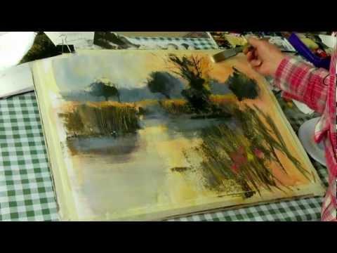 plein air watercolour landscape demonstration doovi