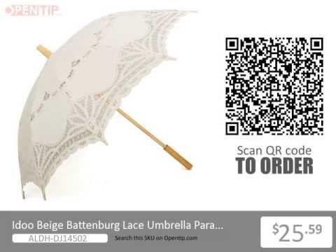 Idoo Romantic Wedding Beige Battenburg Lace Umbrella Parasol From Opentip.com