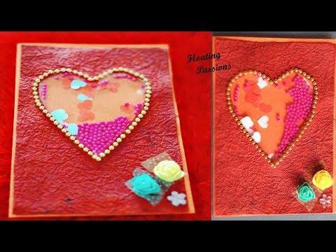 Shaker Card | Handmade Valentine's Day card | DIY Greeting Cards for Valentine's day | Birthday card