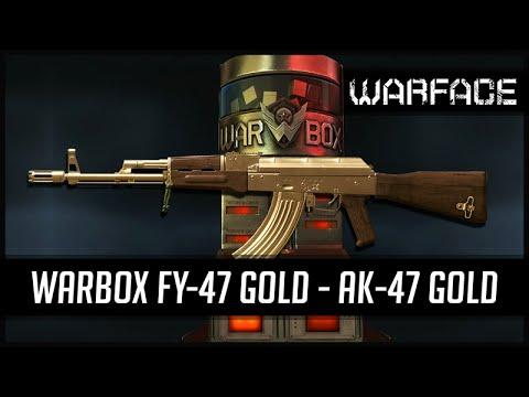 warface warbox fy 47 gold ak 47 gold youtube. Black Bedroom Furniture Sets. Home Design Ideas