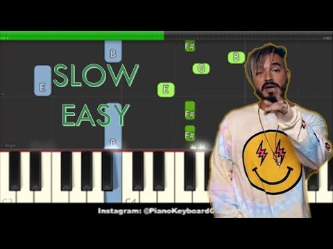 Mi Gente Slow Easy Piano Tutorial - J Balvin, Willy William ft. Beyonce