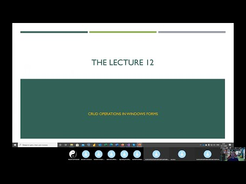 This lecture is devoted to the forms validation and CRUD operations.
