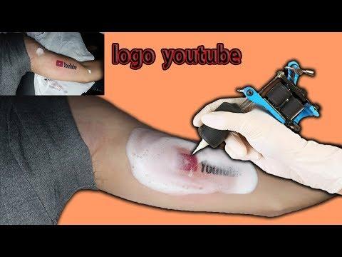Gấu Vlogs -  Xăm Hình Logo Youtube Lên Tay ( Tattoo Logo Youtube )