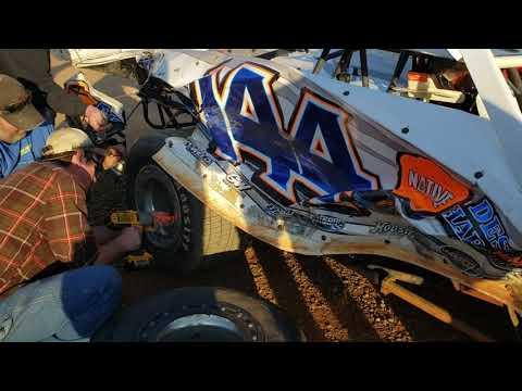 #3rd Walter Walsh - Mini Stock - #Grinch40 - 12-7-19 Volunteer Speedway - In-Car Camera