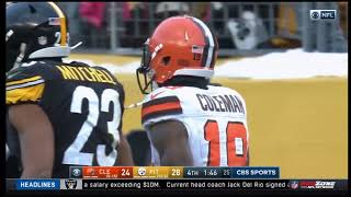 Corey Coleman DROPS PASS - Browns Go 0-16! (Browns at Steelers)