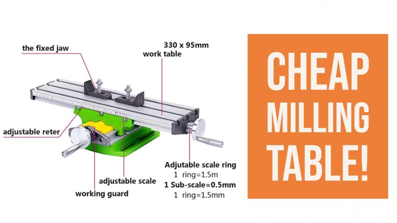 Talk Compound Slide Table For Tabletop Milling