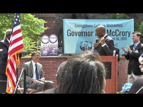 NC Gov. Pat McCrory Honors Livingstone College CIAA wins