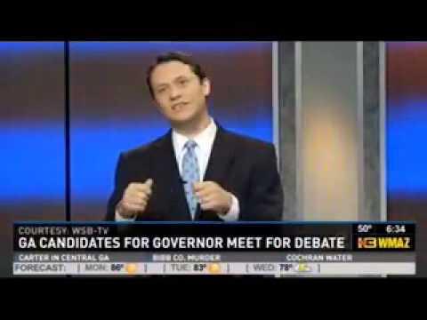On Georgia's economy: Jason Carter & middle class vs. Nathan Deal & corporations (WMAZ News)