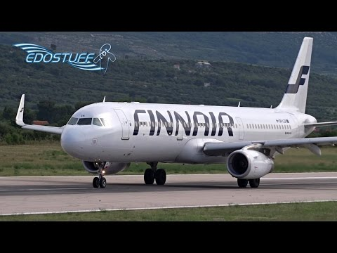 Finnair - Airbus A321-231 Sharky OH-LZH - Takeoff from Split Airport LDSP/SPU