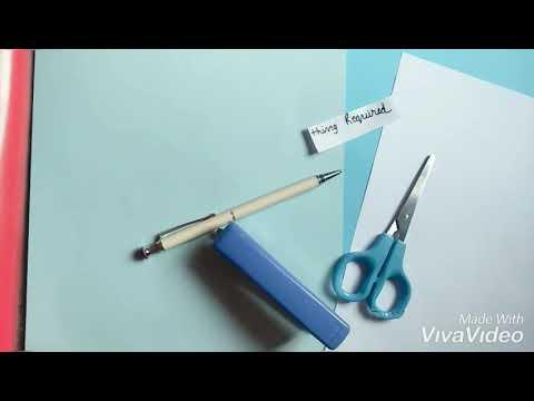DIY mini How to make mini diary of one sheet