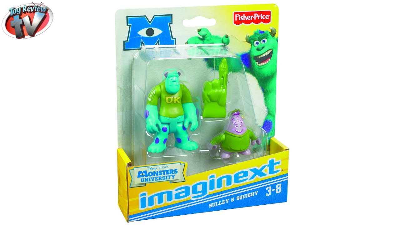 Squishy Toys Pack : Imaginext Monsters University: Sulley & Squishy Figure Pack Toy Review, Fisher-Price - YouTube